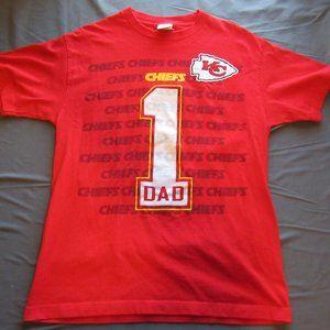 Kansas City Chiefs #1 Dad T Shirt Sz L